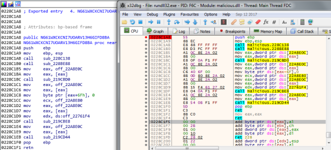 Debugging a DLL in x64dbg and Sync with IDA – Disassemble Blog